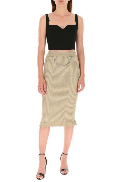 Cappuccino stretch viscose blend skirt