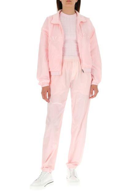 Pastel pink nylon joggers
