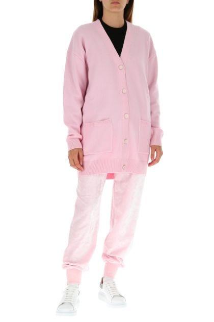 Pink wool blend cardigan