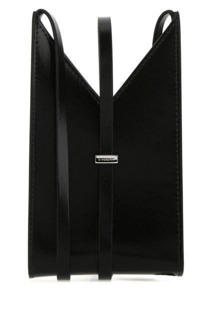 Black leather phone case