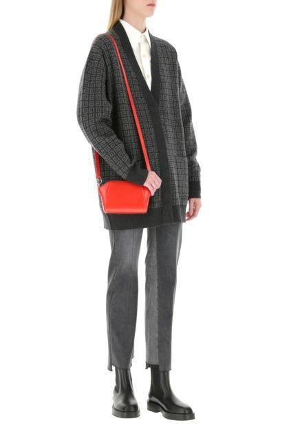 Red leather nano Antigona crossbody bag