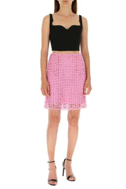 Pink wool blend skirt