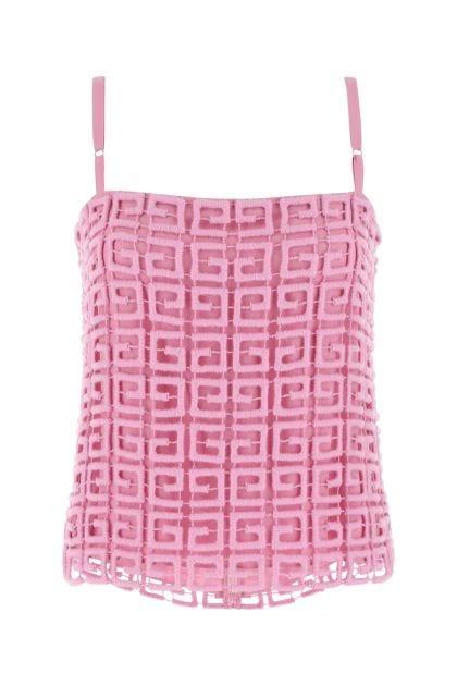 Pink wool blend top