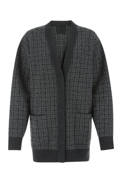 Embroidered cashmere cardigan