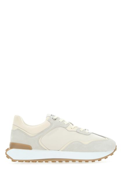 Two-tone suede and nylon GIV Runner sneakers