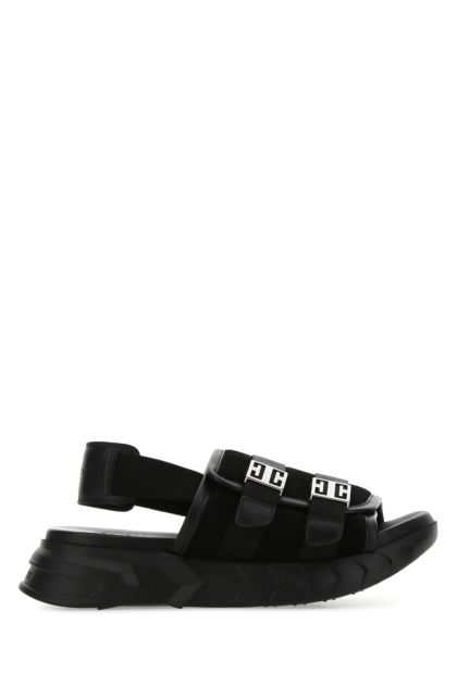 Black suede Marshmallow sandals
