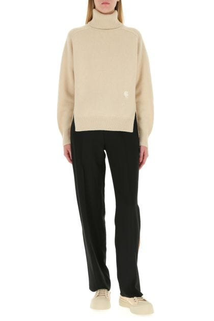 Sand cashmere oversize sweater