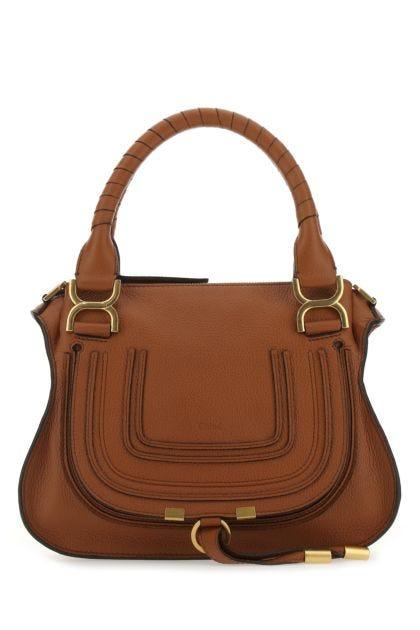 Caramel leather Marcie handbag