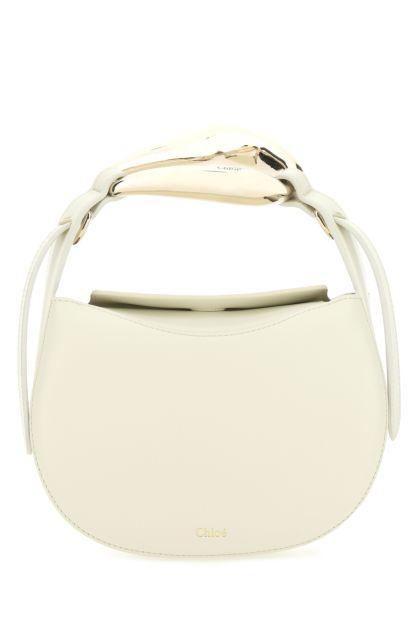 Cream leather small Kiss handbag