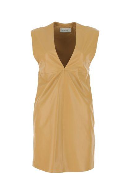 Beige nappa leather Cabina dress
