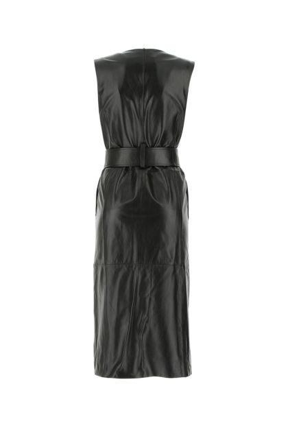 Black nappa leather Albina dress