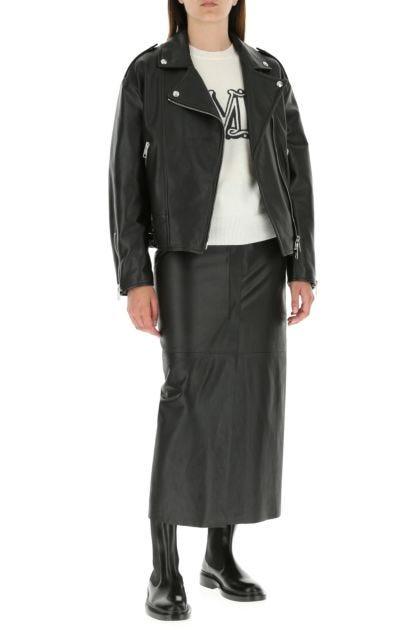 Black nappa leather Tonio jacket