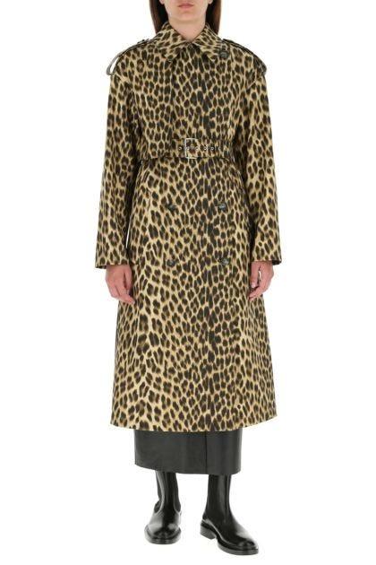 Printed cotton Bracco trench coat