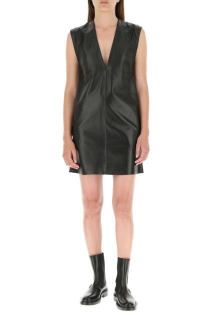 Black nappa leather Cabina dress