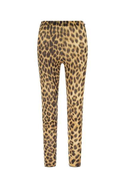 Printed stretch nylon blend leggings