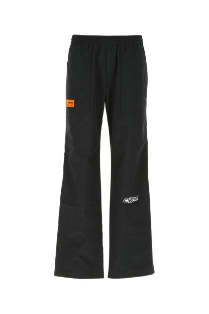 Black nylon blend joggers