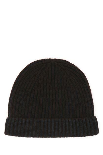 Brown cashmere beanie hat