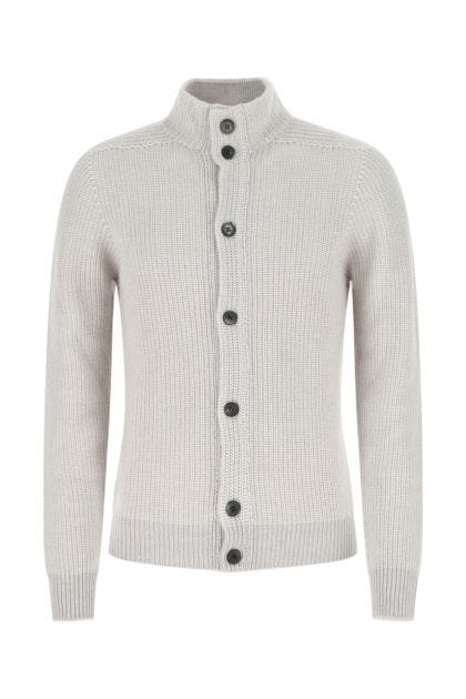 Chalk cashmere and cotton cardigan
