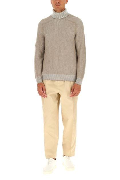 Melange cappuccino cashmere sweater