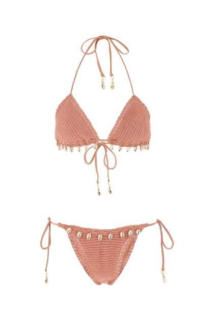 Antiqued pink cotton Cassia bikini