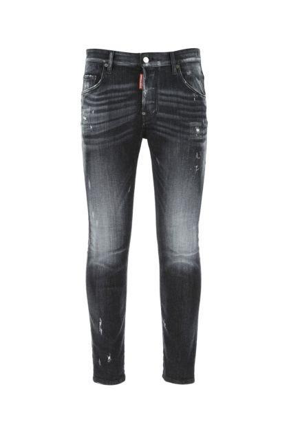 Dark grey stretch denim Skater jeans