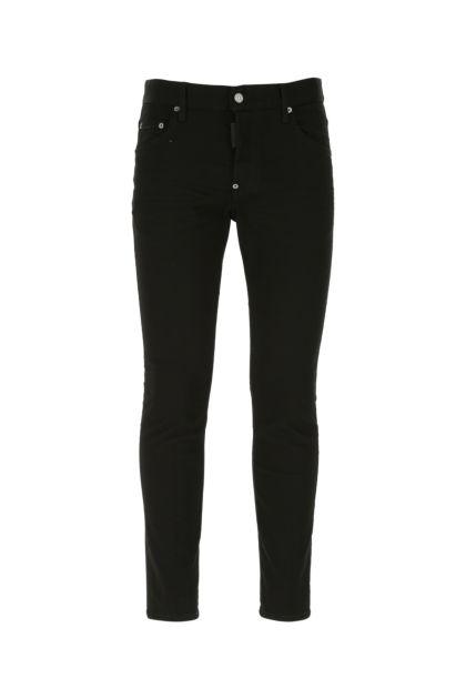 Black stretch denim Skater jeans