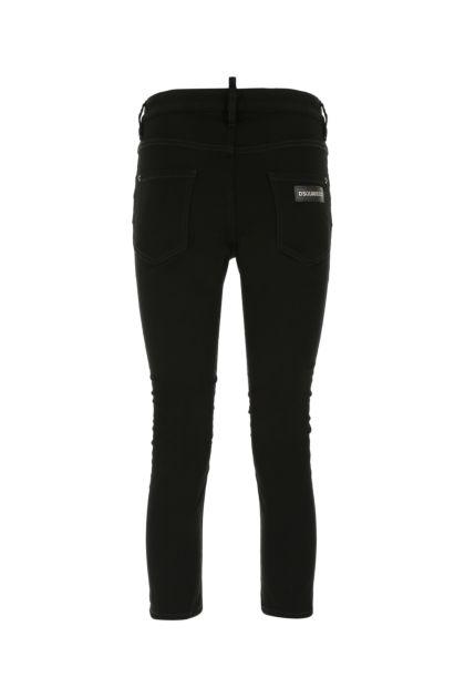 Black stretch denim Cool Girl Cropped jeans