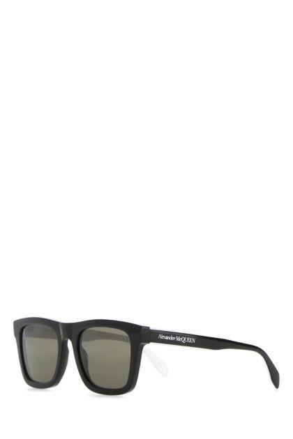 Black acetate Selvedge Flat Top sunglasses