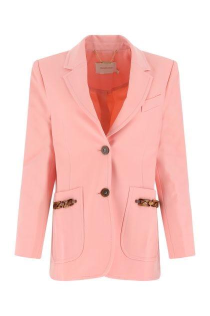 Pink stretch polyester blend Concert blazer
