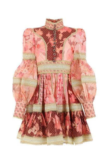 Printed linen blend Concert dress
