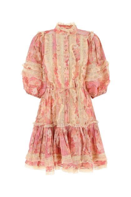 Printed viscose Concert mini dress