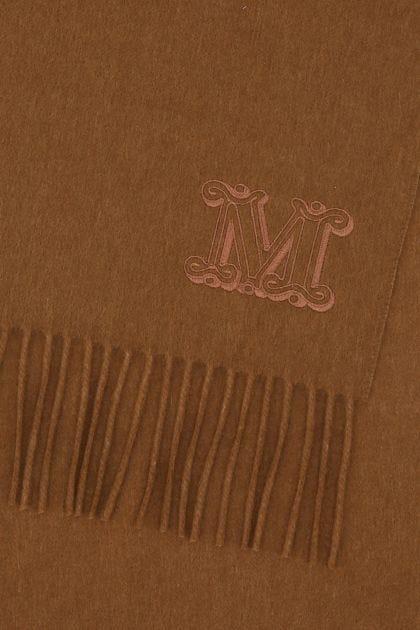 Brown cashmere Wsdalia scarf