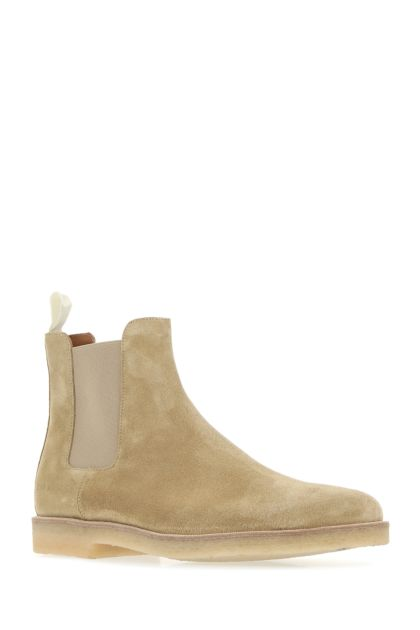 Cappuccino suede ankle boots