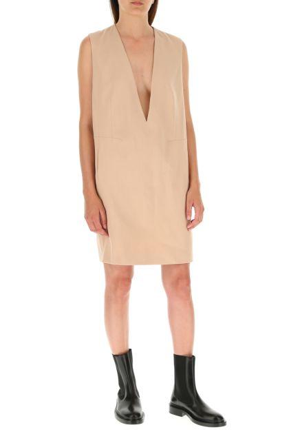 Skin pink stretch polyester blend dress