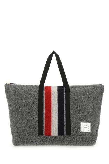 Grey felt shopping bag