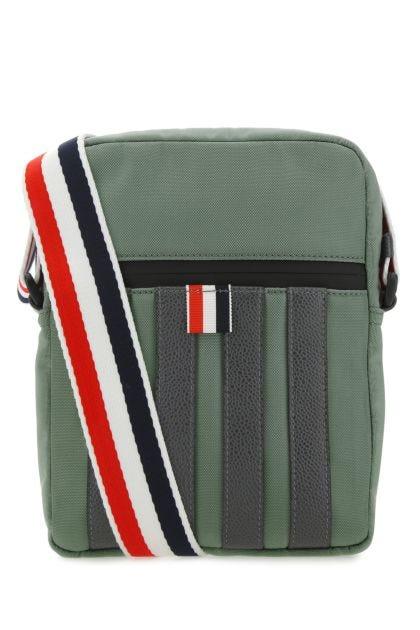Sage green nylon crossbody bag