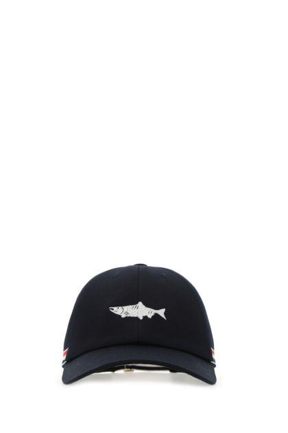 Midnight blue cotton baseball cap
