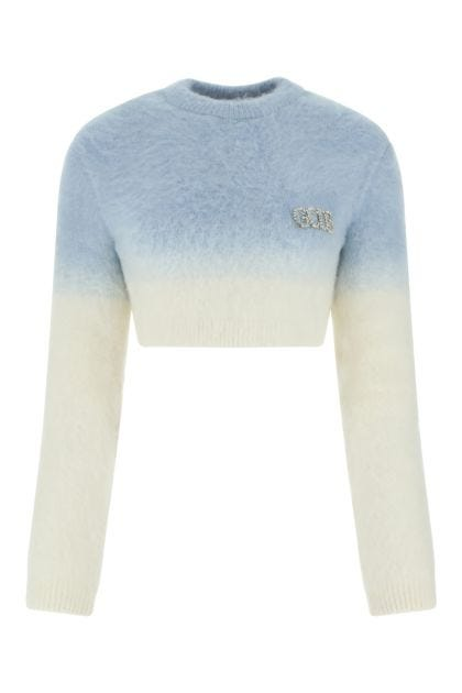 Two-tone acrylic blend sweater