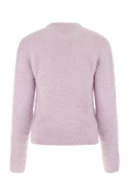 Lilac acrylic blend sweater