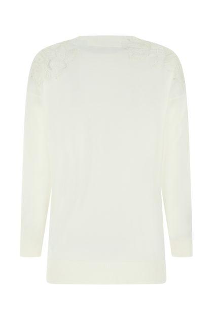 Ivory wool oversize sweater
