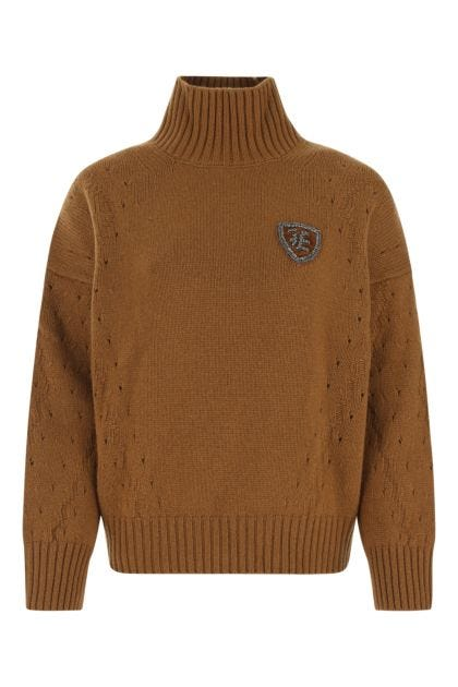 Biscuit wool blend sweater