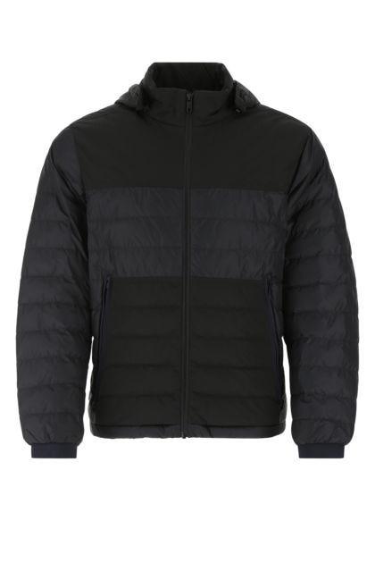 Black nylon padded jacket