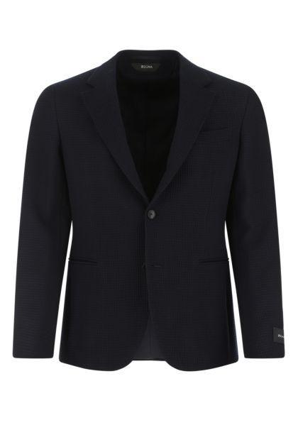 Midnight blue wool blazer