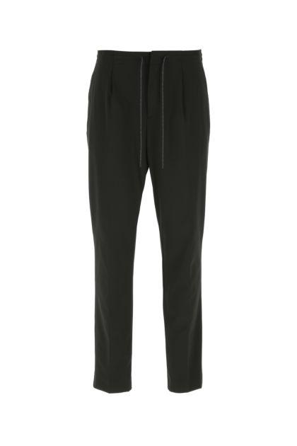 Black stretch nylon pant