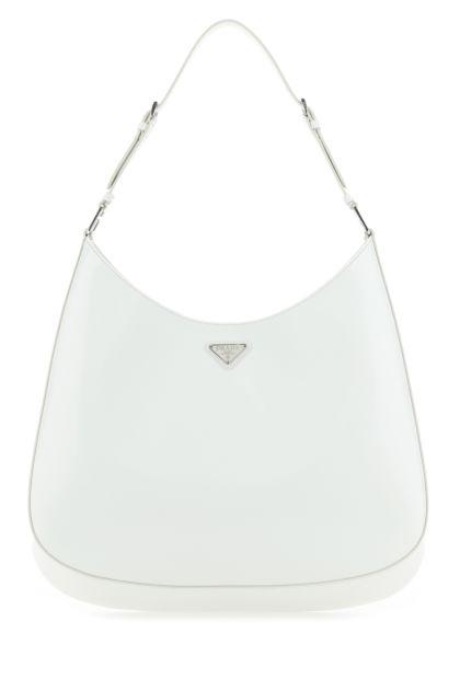 White leather Cleo shoulder bag