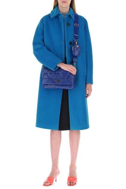 Electric blue nappa leather System shoulder bag