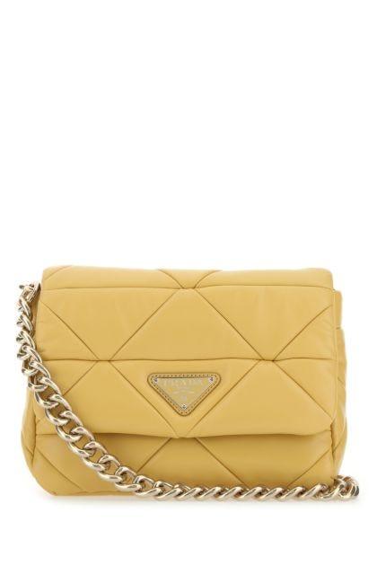 Mustard nappa leather System shoulder bag