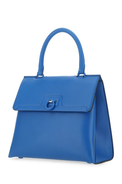 Turquoise leather Trifolio handbag