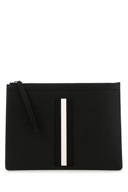 Black leather Bhalden clutch