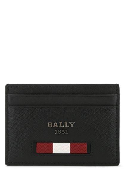 Black leather Bhar card holder